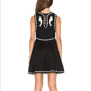 Free people embroidered back bird dress